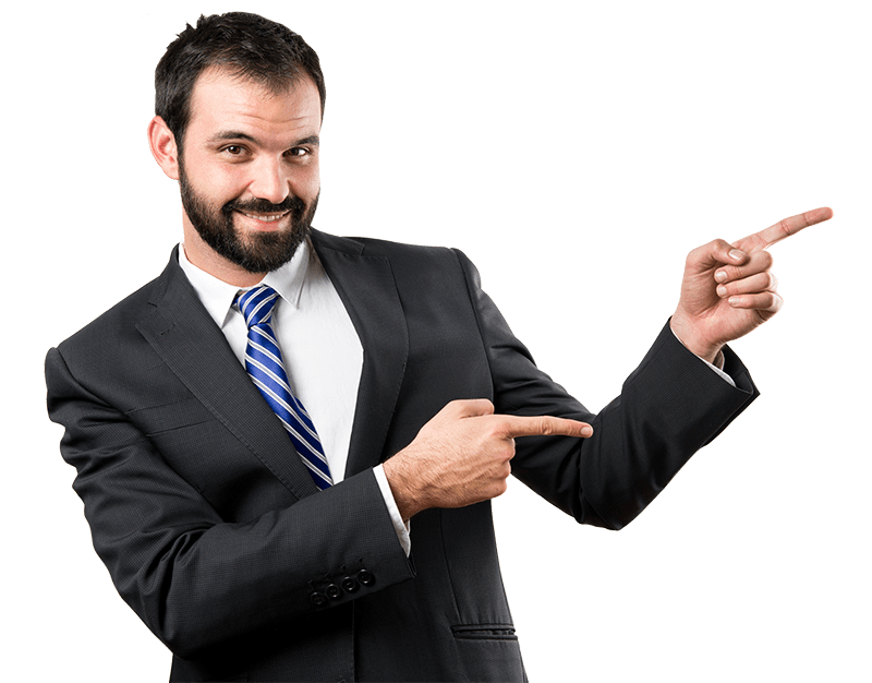 second mortgage lenders man pointing right